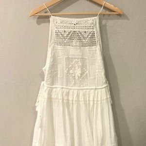 Free people white embroidered tunic/babydoll dress